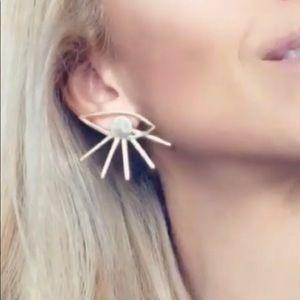 Jewelry - Irene Erika Hera evil eye gold earrings